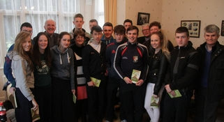 Bishop Leahy meets young people in Askeaton