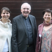 Bishop Brendan Leahy with Delegates of the Polish Community, Ewa Wolinska & Lidia Zepleleska