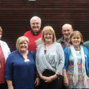 Charismatic Renewal Delegates:Sharon Clohessy, Nuala Fitzgearld, Mary Fitzgearld, Fr. Damien Ryan, Brian Beirne, Betty Cook, Sr. Anna Ryan